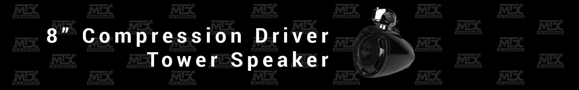 """MTX Audio Releases 8"""" Compression Driver Tower Speaker"""