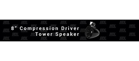 "MTX Audio Releases 8"" Compression Driver Tower Speaker"